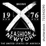 new york fashion tee typography ...   Shutterstock .eps vector #731543290