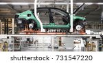 the car assembly line is not... | Shutterstock . vector #731547220