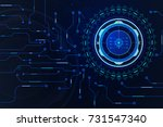 abstract hud scifi futuristic... | Shutterstock .eps vector #731547340
