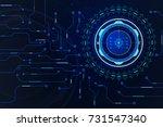 abstract hud scifi futuristic... | Shutterstock .eps vector #731547340