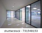 interior empty office light... | Shutterstock . vector #731548153