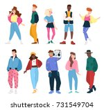 collection of people wearing... | Shutterstock .eps vector #731549704