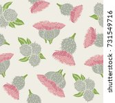 botanical seamless pattern with ... | Shutterstock .eps vector #731549716