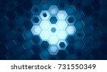 hexagonal geometric background. ... | Shutterstock . vector #731550349