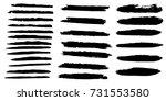 set of hand painted brush... | Shutterstock .eps vector #731553580