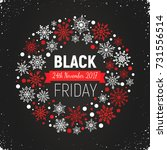 black friday banner with circle ... | Shutterstock .eps vector #731556514