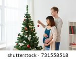 pregnancy  winter holidays and... | Shutterstock . vector #731558518