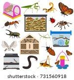 pet appliance icon set flat... | Shutterstock .eps vector #731560918