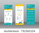 standee design collection. roll ... | Shutterstock .eps vector #731562124
