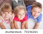happy children isolated on a... | Shutterstock . vector #73156261