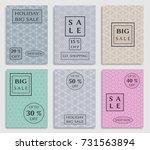 seamless geometric line pattern ... | Shutterstock .eps vector #731563894