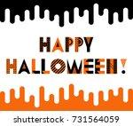 happy halloween. trendy...   Shutterstock .eps vector #731564059