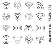 wifi logo vector elements.... | Shutterstock .eps vector #731564773