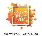 vector illustration of autumn...   Shutterstock .eps vector #731568850