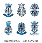 lily flowers royal symbols ... | Shutterstock .eps vector #731569720