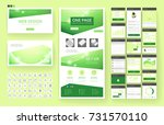 website template  one page... | Shutterstock .eps vector #731570110