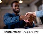 business people shaking hands. | Shutterstock . vector #731571499