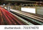 billboard blank for outdoor...   Shutterstock . vector #731574070