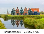 volendam is a town in north... | Shutterstock . vector #731574733