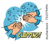 human hands clapping ovation... | Shutterstock .eps vector #731579494