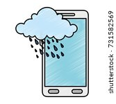smartphone with storm cloud...