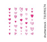 set of different hand drawn... | Shutterstock .eps vector #731590174