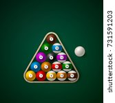 Set Of Billiard Balls On In A...