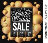 abstract vector black friday... | Shutterstock .eps vector #731591419