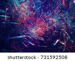 fireworks on holiday party.... | Shutterstock . vector #731592508