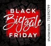 abstract vector black friday... | Shutterstock .eps vector #731592799