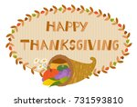 Thanksgiving Cornucopia Sign  ...