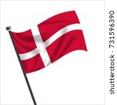 norway flag. norway icon vector ... | Shutterstock .eps vector #731596390