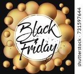 abstract vector black friday... | Shutterstock .eps vector #731597644
