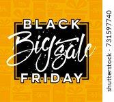 abstract vector black friday... | Shutterstock .eps vector #731597740