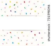 banner with modern colorful... | Shutterstock .eps vector #731598346