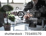 iot  automation  industry 4.0.... | Shutterstock . vector #731600170