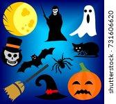 set vector design elements of... | Shutterstock .eps vector #731606620