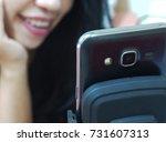 online girls with boyfriends on ... | Shutterstock . vector #731607313