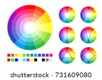 color wheel  color schemes and... | Shutterstock .eps vector #731609080