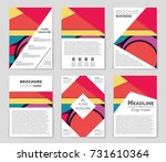 abstract vector layout... | Shutterstock .eps vector #731610364
