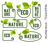 eco and nature green fresh... | Shutterstock .eps vector #731610946