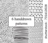 handdrawn set of patterns.... | Shutterstock .eps vector #731613028