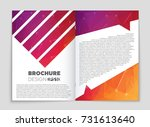 abstract vector layout... | Shutterstock .eps vector #731613640