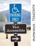 Small photo of Disabled Parking and Van Accessible Sign with Arrow
