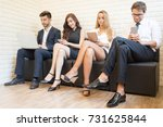 happy young smart confident...   Shutterstock . vector #731625844