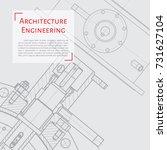 vector technical blueprint of... | Shutterstock .eps vector #731627104
