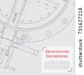 vector technical blueprint of...   Shutterstock .eps vector #731627218