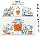 business flat line concept web...   Shutterstock .eps vector #731629990