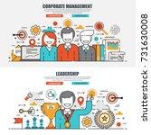 business flat line concept web... | Shutterstock .eps vector #731630008