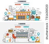 business flat line concept web... | Shutterstock .eps vector #731630020